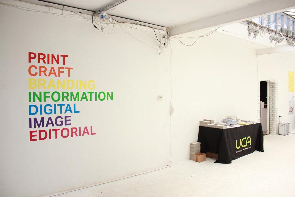 1+1 UCA Graduate Show entrance