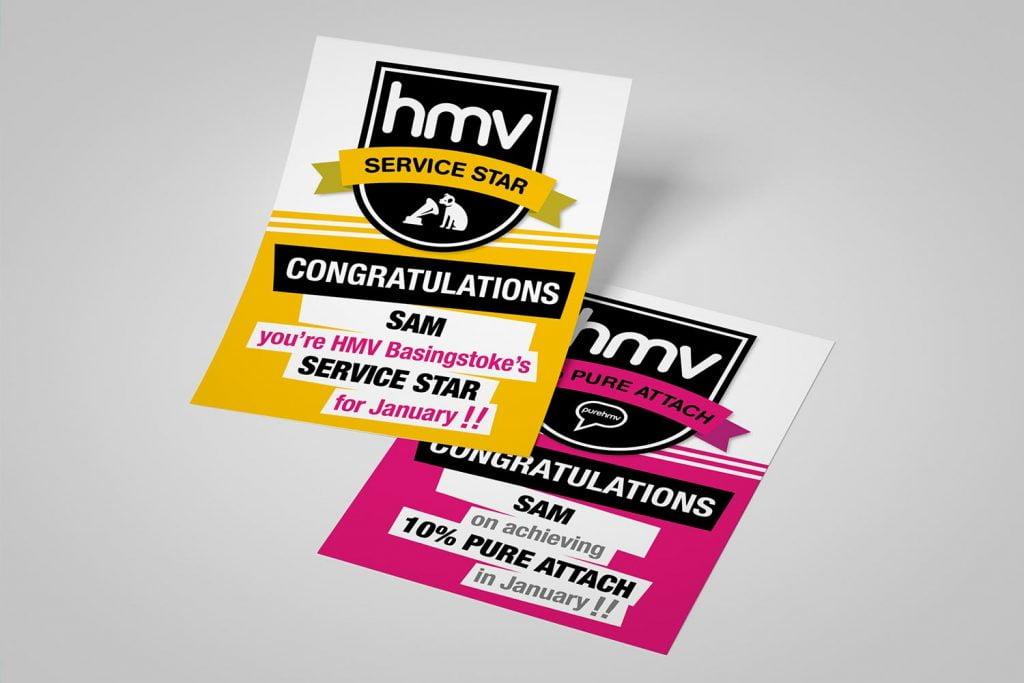 HMV recognition certificates