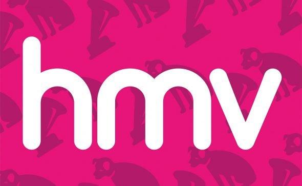 hmv and nipper logo pattern