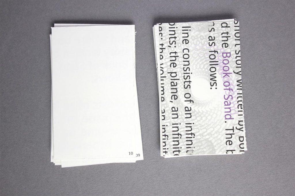 Screen rotate effect represented through typographic design