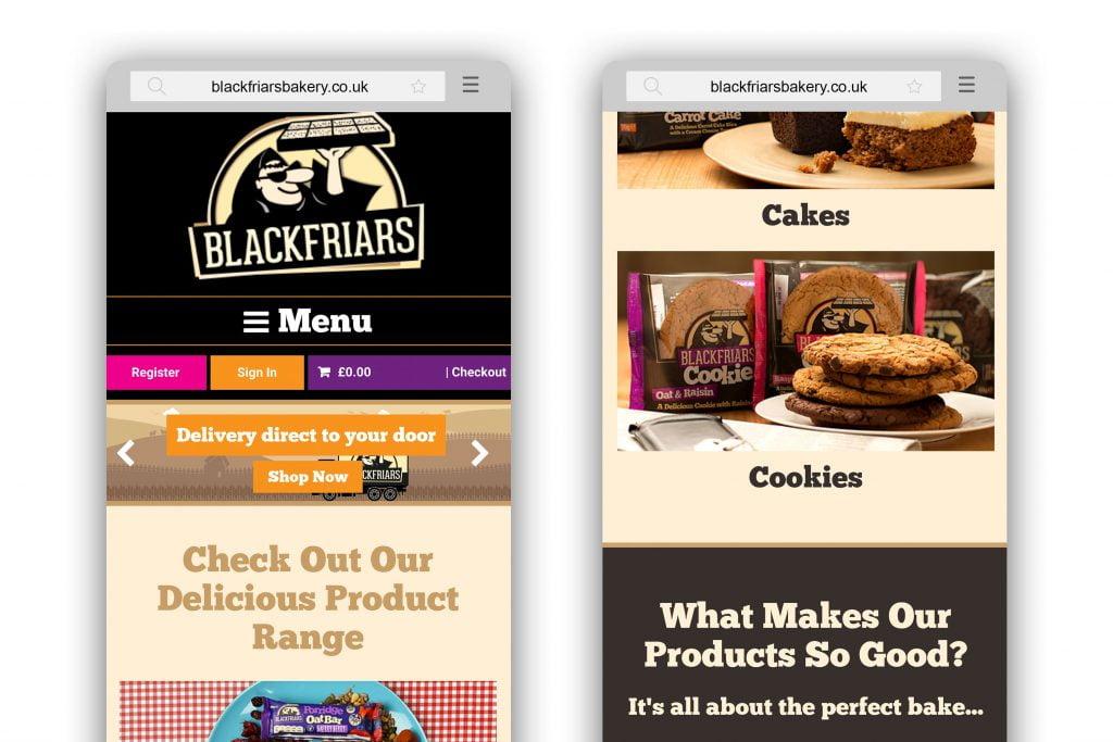 Blackfriars homepage mobile responsive