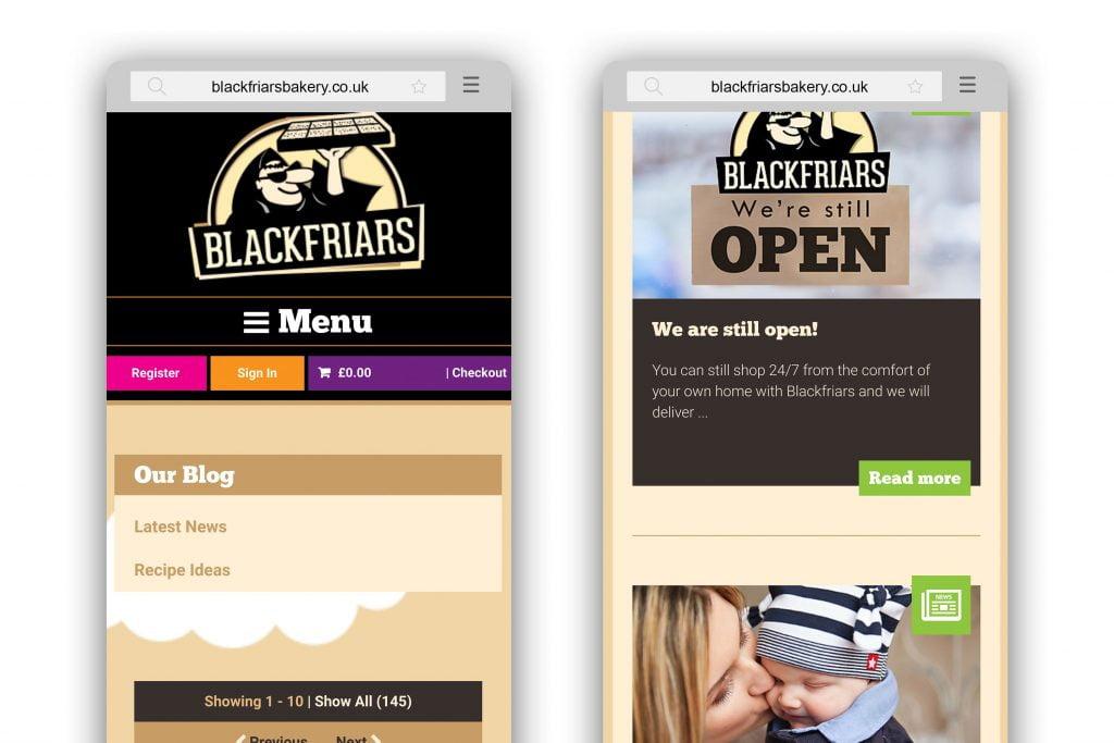 Blog mobile responsive